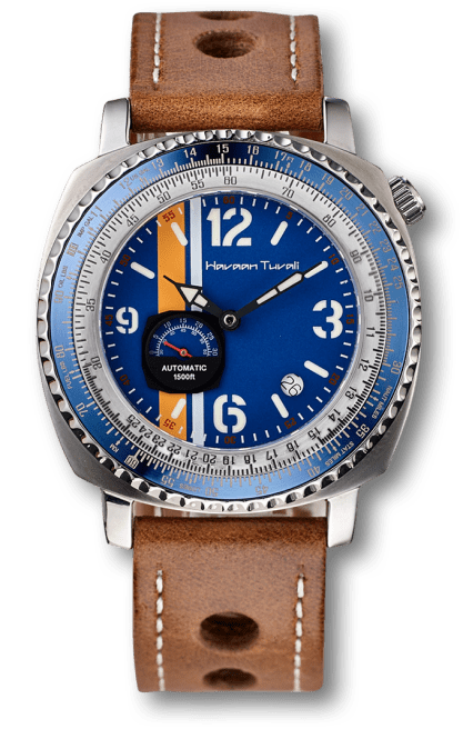 Squadron One Black& Blue Diver watch