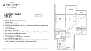 Affinity Floor Plan 2 bedroom