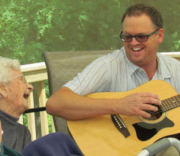 Singing with Residents