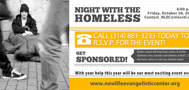 New Life Evangelistic Center's 23rd Annual Night with the Homeless FAQ's Where will the Night with the Homeless be held? The event will be held at New Life Evangelistic Center, 1411 Locust Street, St. Louis, Missouri, 63103. Our phone number […]