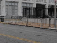 Parking Meters and Barricades 006