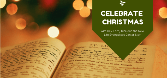 Celebrate Christmas with Rev. Larry Rice, and the New Life Evangelistic Center staff, this Sunday, December 16th at 10:30 a.m. at the New Community Church in Collinsville, Illinois. As Christmas is celebrated, a homeless man and a homeless woman, who […]