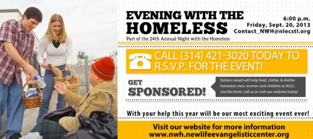 You are invited to the Evening with the Homeless – Part of our 24th Annual Night with the Homeless! The Night with the Homeless will include two events this year at two different locations! On September 20th, you will be […]