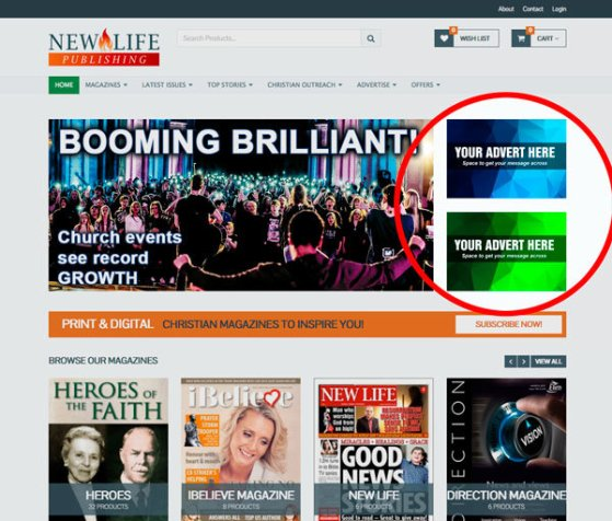 Advertise online with New Life Publishing