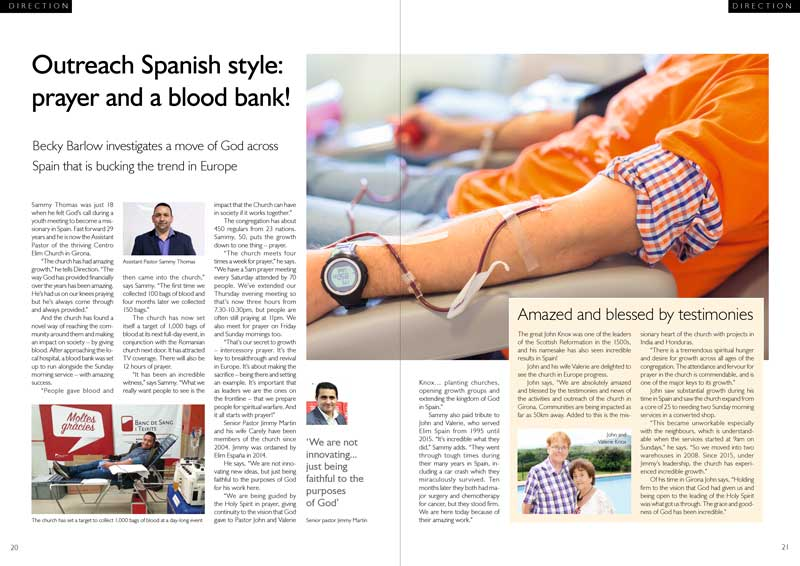 Outreach Spanish style! Inside Direction Magazine