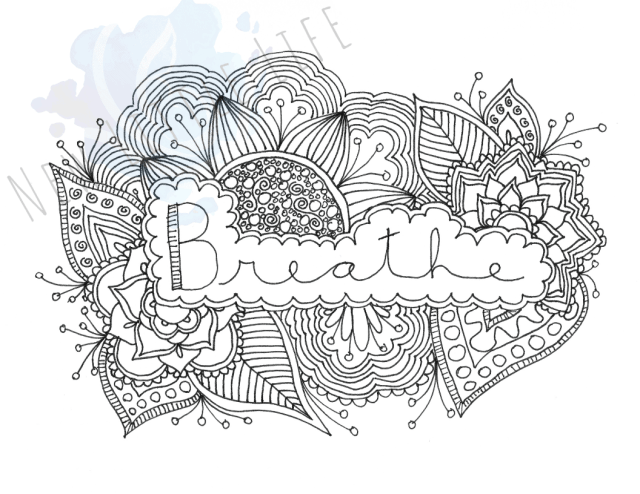 Breathe - Birth Affirmation Coloring Page - New Little Life