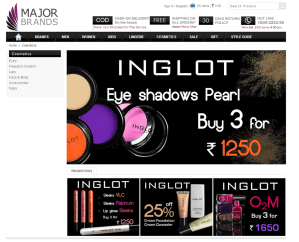 Shopping for Inglot from MajorBrands.in