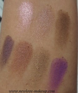 Colorbar Eyeshadow Swatches