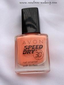 Avon Speed Dry+ Nail Enamel 'Swift Sherbert' Review & NOTD