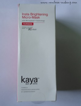 Kaya Insta – Brightening Micro Mask Review
