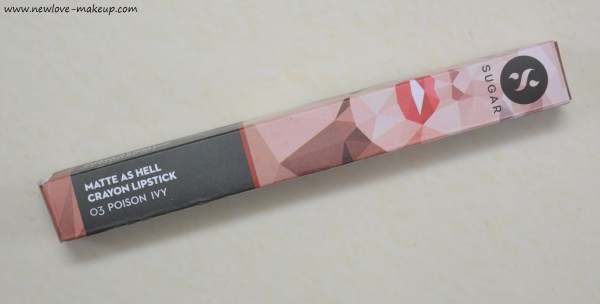 Sugar Cosmetics Matte As Hell Lip Crayon Poison Ivy Review, Swatches