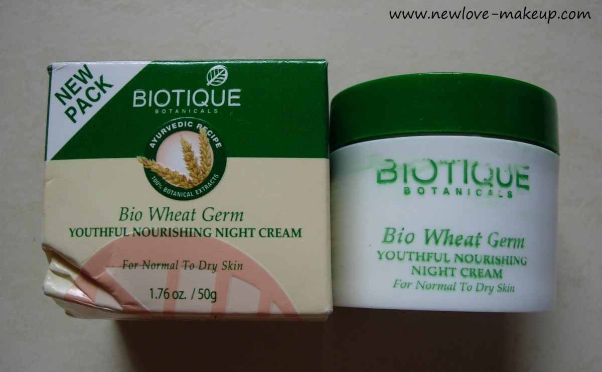 Biotique Bio Wheat Germ Youthful Nourishing Night Cream Review