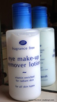 BOOTS Fragrance Free Eye Make-Up Remover Lotion Review