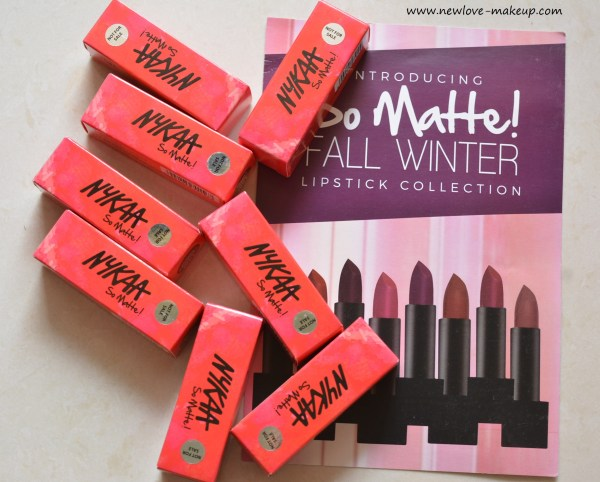 All Nykaa So Matte Fall/Winter Lipsticks Review, Swatches