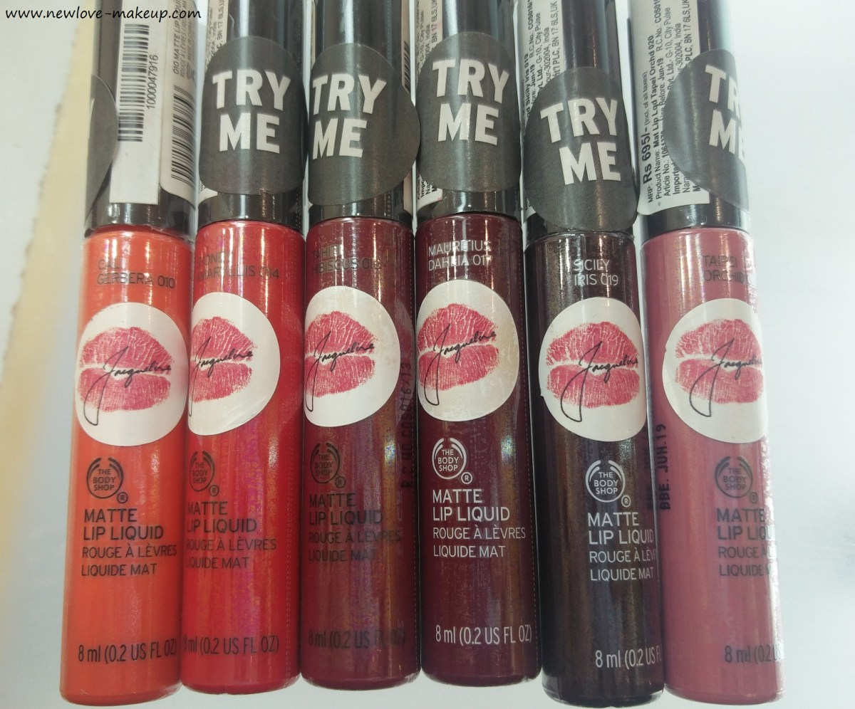 All 12 The Body Shop India Matte Lip Liquid Review, Swatches