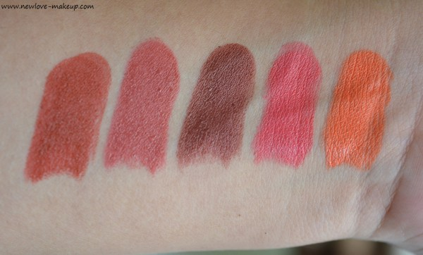 New Lakme 9to5 Primer + Matte Lipsticks Review, Swatches