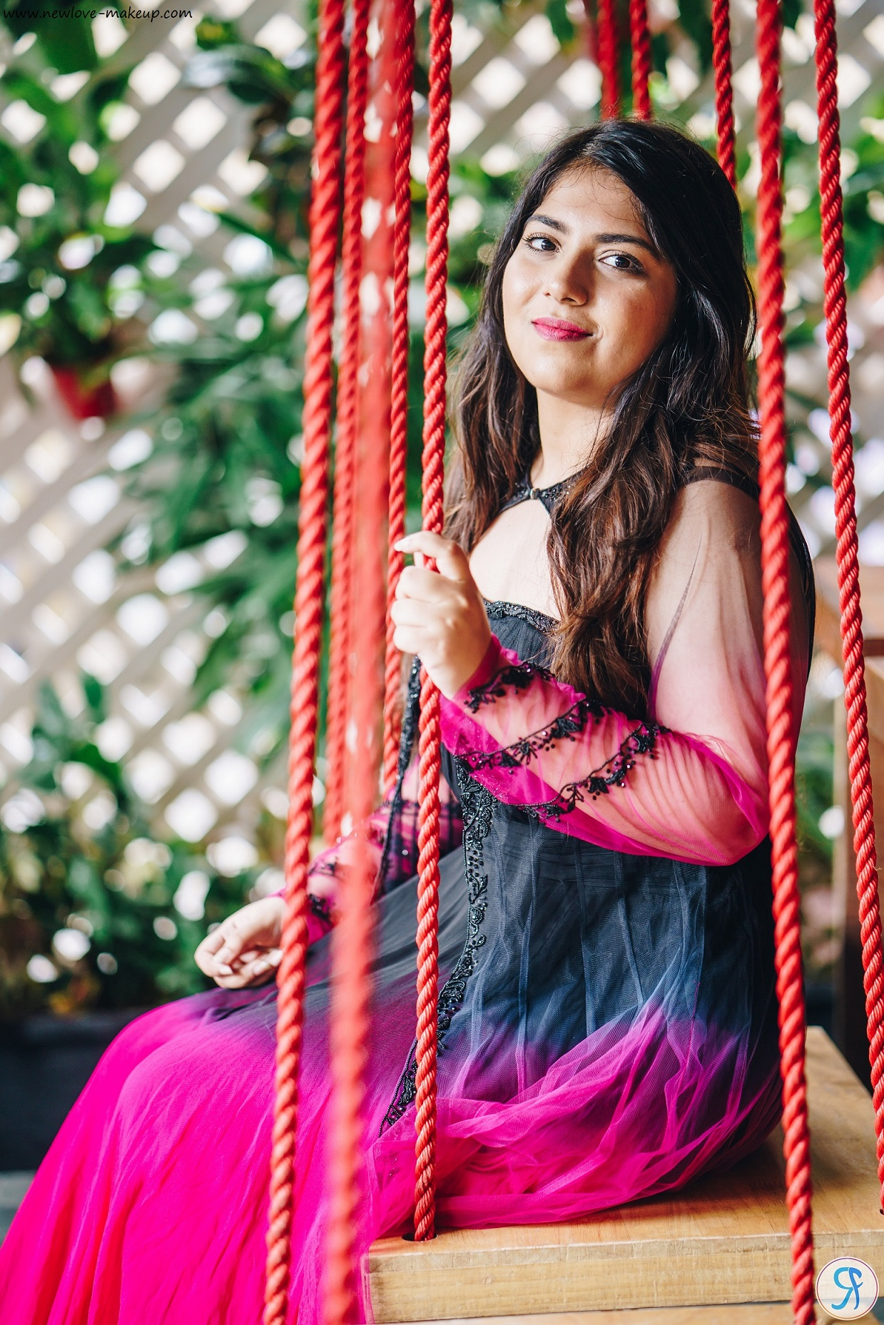 OOTD: Black & Fuchsia Pink Ombre Maxi Dress with Embellished Cape