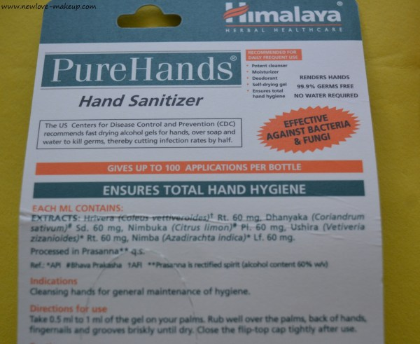 Himalaya PureHands Hand Sanitizers Review
