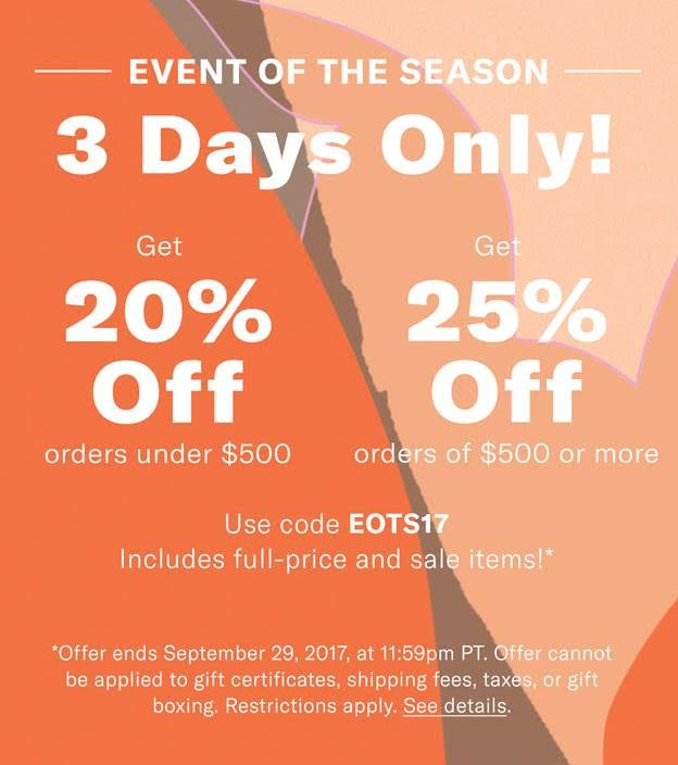 ShopBop Event of the Season Sale 17