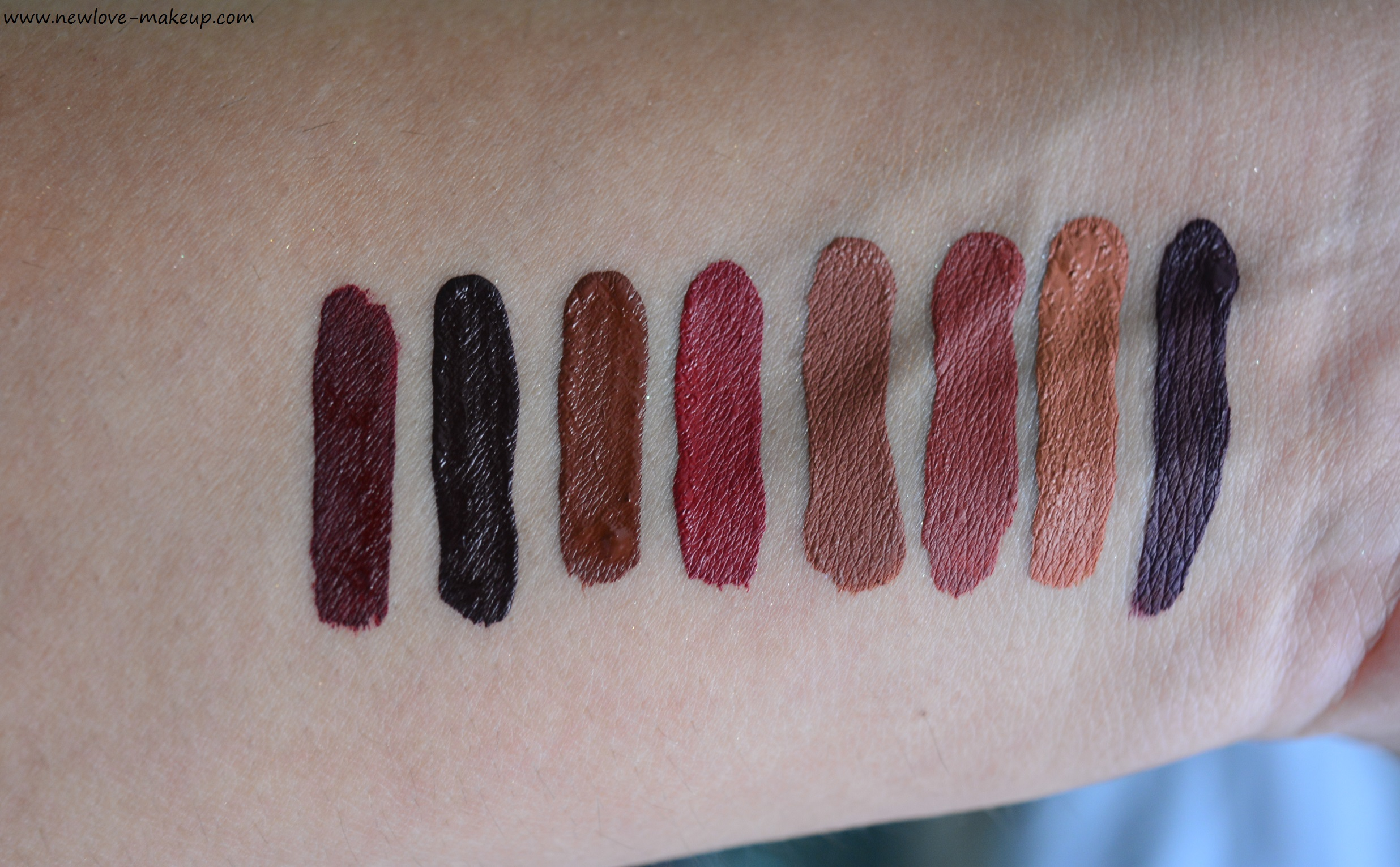 PAC Retro Matte Gloss New Shades Swatches