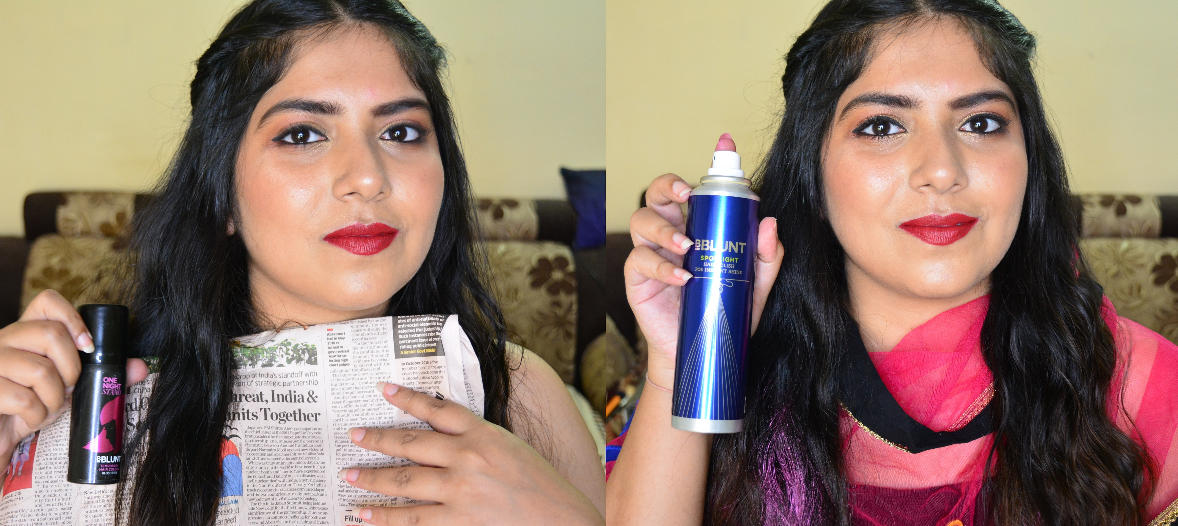 Two Easy Heatless DIY Hairstyles for Indian Outfits