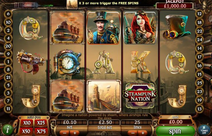 Steampunk Nation Slot screnshot