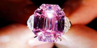 Pink diamond ring. (Picture is in use as example only)
