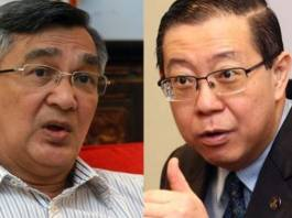 Datuk Mohamad Ariff Md Yusof (left), Lim Guan Eng (right)