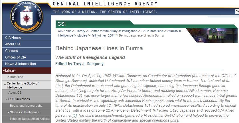 Burma And The Cia New Mandala