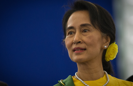 Aung San Suu Kyi has been blocked from running in Burma's presidential elections. Photo from wiki commons.