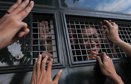 Some of the arrested Thai students. Photo from HRW.