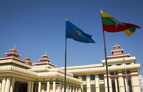 Myanmar's parliament building in Naypyitaw