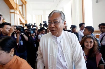 NLD presidential nominee U Htin Kyaw. Photo by AAP.