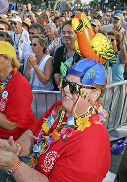 Parrot Heads dress wild and wacky for the annual gathering in the southernmost city to celebrate the lifestyle.