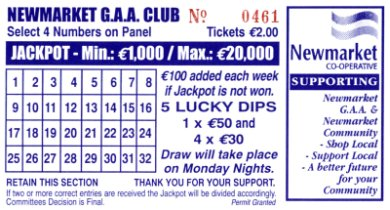 Newmarket Lotto Ticket
