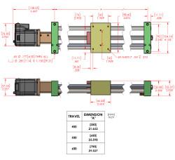 ETL MDrive 400mm, 500mm, 600 Travel