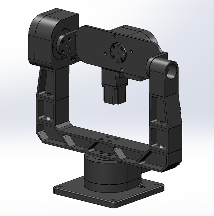 motorized 3 axis gimbal mount