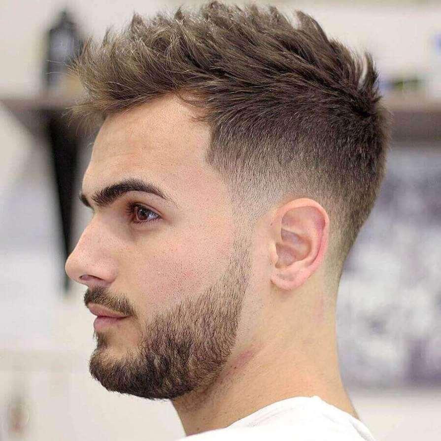 Short Textured Haircut For Boys