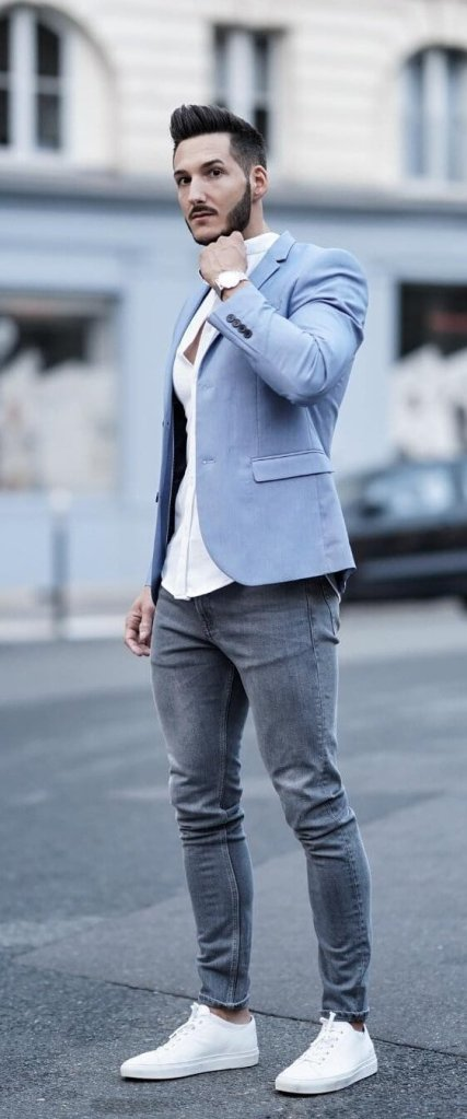 The Blue Blazer With Jeans For Men