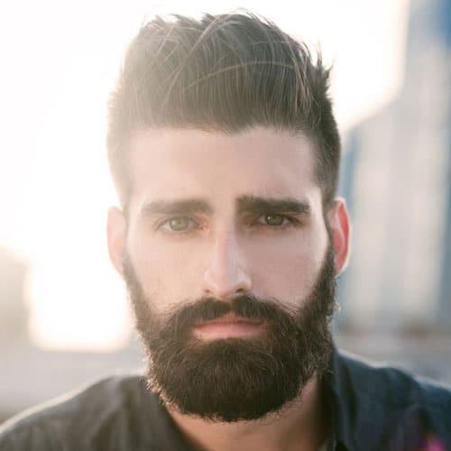 Short Sides + Full Beard style