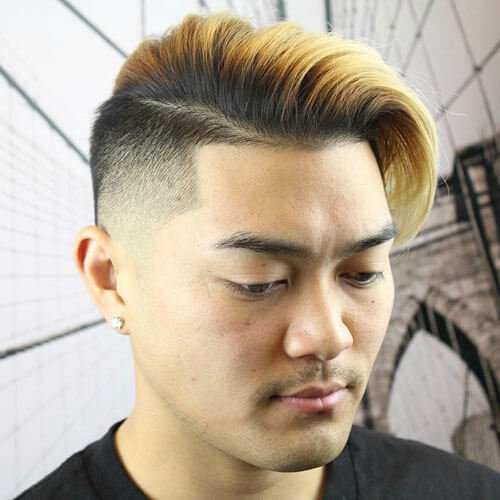 High Fade + Shape Up + Long Comb Over