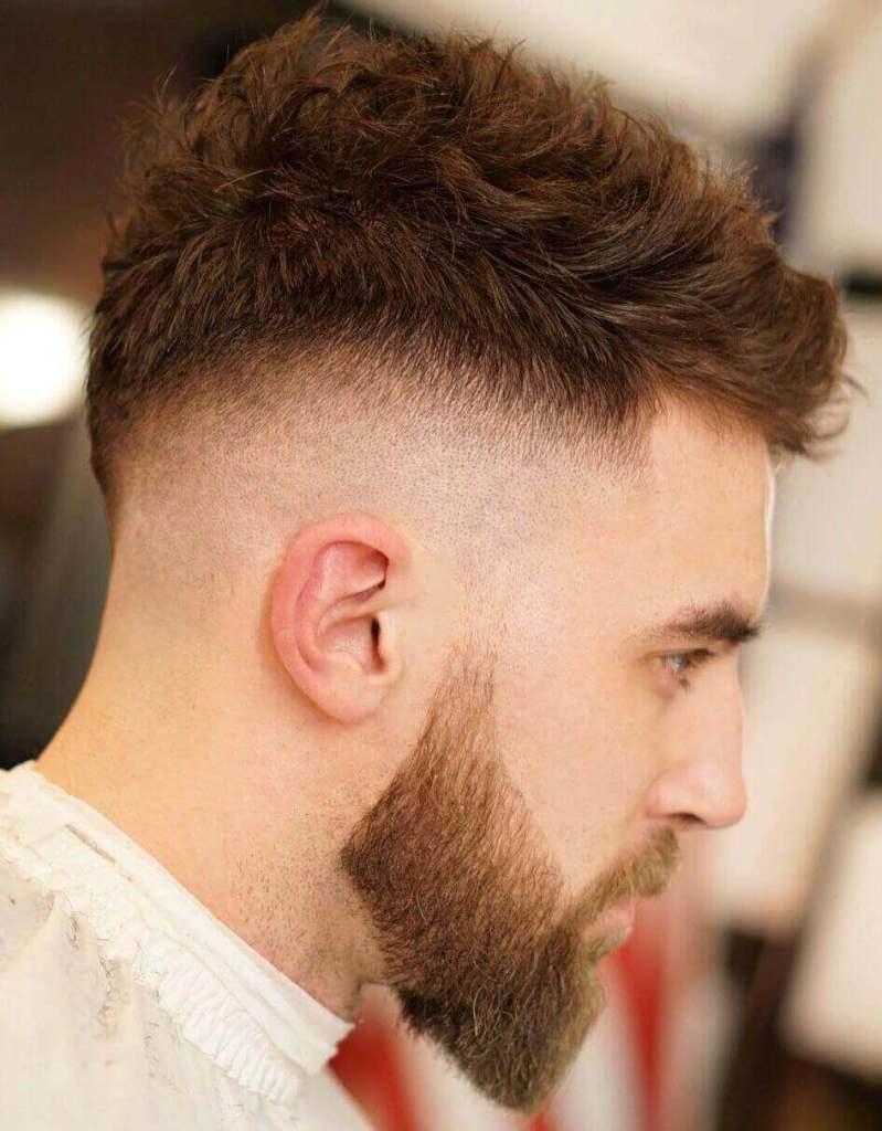 Quiff Haircut + High Skin Fade + Beard