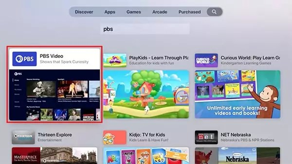 Apple TV Search PBS