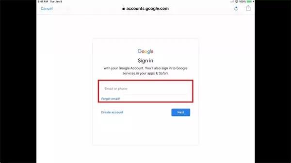Chromecast Google Log In