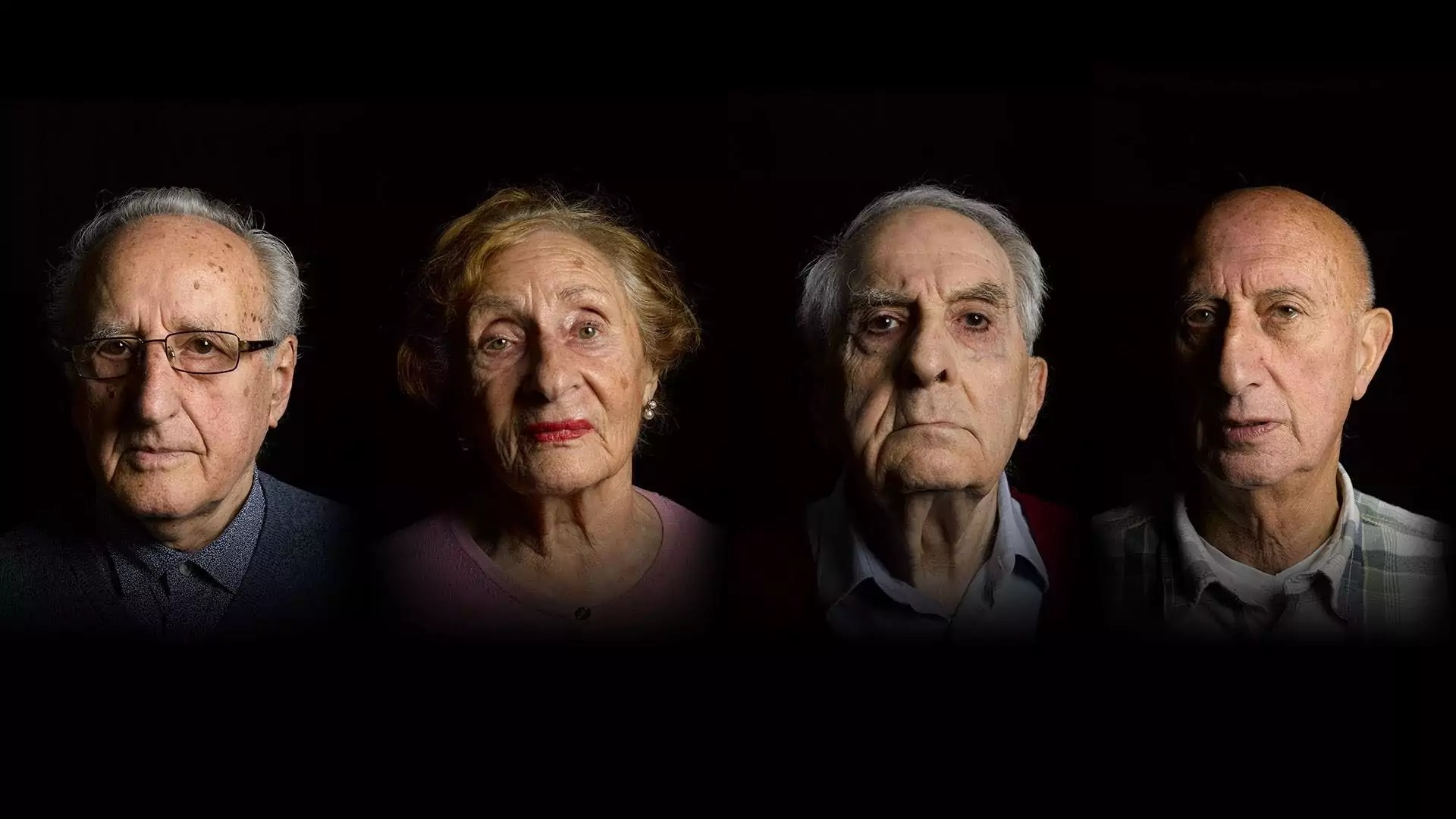 Portraits of four older people.