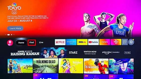 Fire TV Homescreen