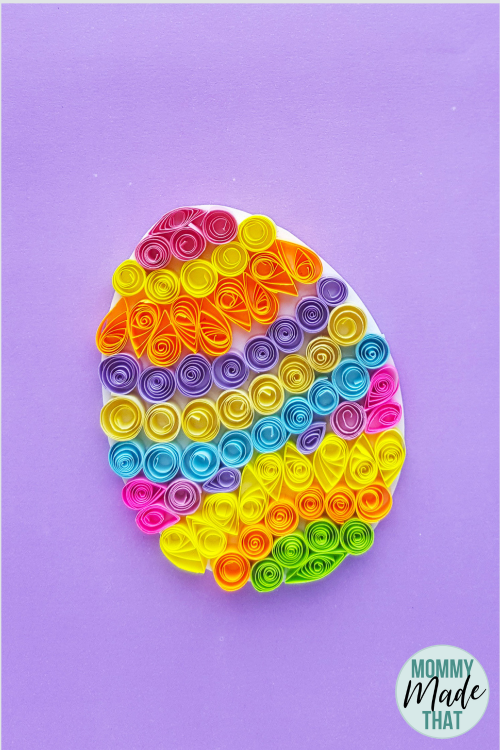 ab02a2cf1d1c57 Quilled Easter egg craft. Fun paper easter egg craft you can do by yourself  or