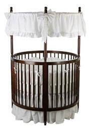 Round Crib And Mattress Set Espresso Color