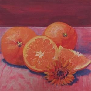 Orange Blossom Gouache susan mclaren