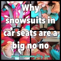 Snowsuits in car seats... a big no no!